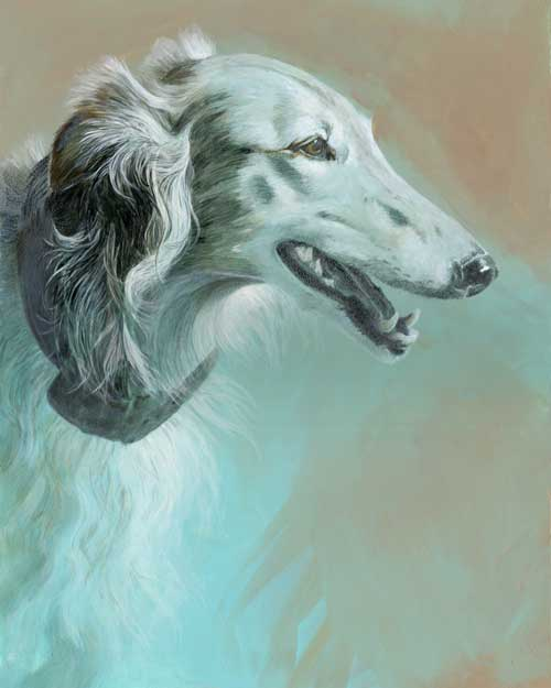 Hunter gets a name!  Silken Windhound #3 portrait update