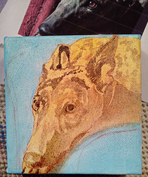 FPM Painting #2: Toni progresses