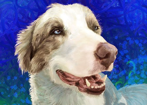 Bud – Digital Pet Portrait, and my Other Job