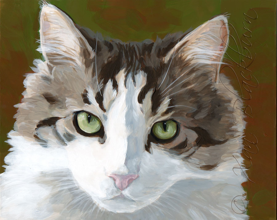#5 in my Portrait Marathon: Puff the kitteh