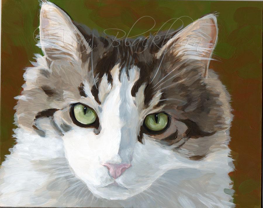 "Puff 10"" x 8"" Acrylic on Claybord panel © Xan Blackburn"